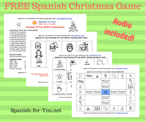 FREE Spanish Christmas Giant Stocking Game