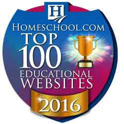 Homeschool.com top 100 Educational websites 2016 award