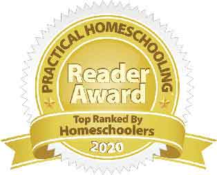 Practical Homeschooling 2020 Reader Award badge