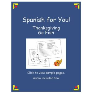 Spanish for You! Thanksgiving Go Fish