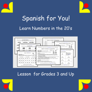 Learn Spanish Numbers in the 20's