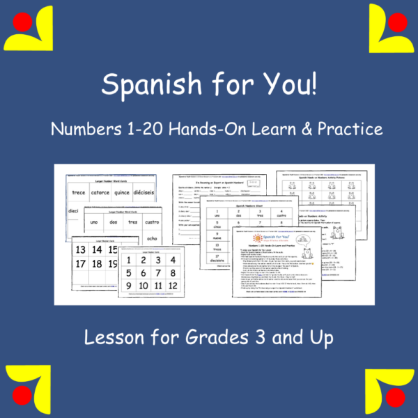 Spanish for You! Numbers 1-20 Learn and Practice Lesson