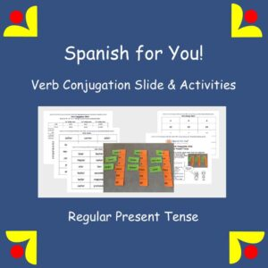 Spanish for You! Verb Conjugation Slide